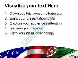 usa flag and gambling game powerpoint templates and powerpoint