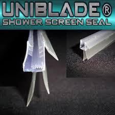 uniblade 900mm bath shower screen seal ref ub