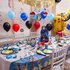 Party City Balloons For Baby Shower - pokemon pikachu balloon tower diy party city
