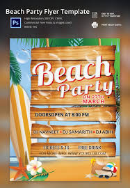 psd beach party flyer free download free u0026 premium
