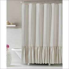 Wide Window Curtains by Living Room Sheer White Ruffle Curtains Country Lace Curtains