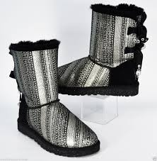 s ugg australia black grandle boots ugg bailey bow bling black silver boots suede sheepskin