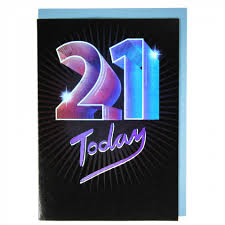 21 Birthday Card Design Holographic 21st Birthday Card Paperchase
