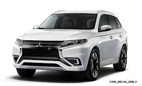 mitsubishi suv 2015 black wow 2016 mitsubishi outlander facelift previewed by very stylish