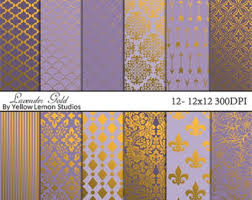 moroccan wrapping paper lavender foil tiles etsy