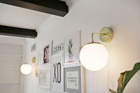 brass globe sconce diy a beautiful mess home interior sconces and