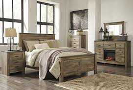 Ashley Bedroom Sets Ashley B446 32 Trinell Dresser With Fireplace Option Industrial