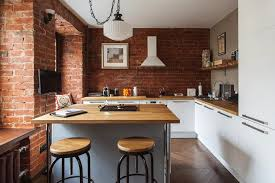 brick wall apartment apartment stays authentic by keeping its brick walls intact