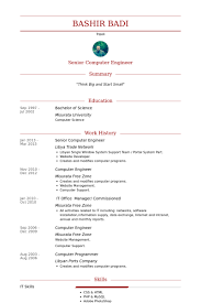 Resume Sample For Computer Programmer Computer Engineer Resume Samples Visualcv Resume Samples Database