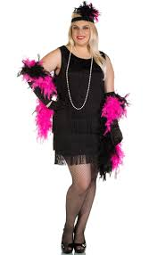 1920 u0027s plus size black flapper costume women u0027s black 20 u0027s flapper