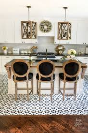 black and white kitchen floor images get the cement tile look for less peel stick vinyl