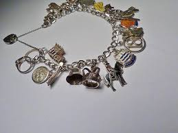 solid silver charm bracelet images Vintage jewellery solid silver charm bracelet 1970s the vintage jpg