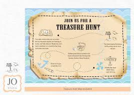 Blank Pirate Treasure Map by Treasure Hunt Scavenger Hunt Themed Treasure Map Invitation