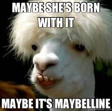 Bad Hair Day Meme - maybe she s born with it maybe it s maybelline bad hair day