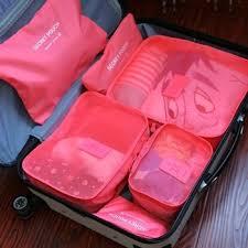 Underwear Organizer 6pcs Set Portable Nylon Travel Hanging Clothes Luggage Storage