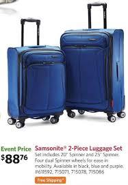 sam s club black friday samsonite 2 luggage set fs for