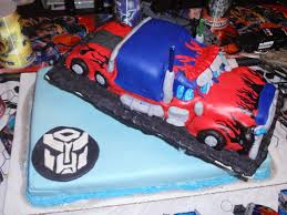 transformer birthday optimus prime transformer birthday cake
