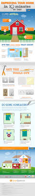 home decor infographic infographic improving your home in 10 minutes or less