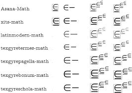 element of or equal to symbol tex latex stack exchange