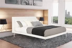 dhp furniture wilshire faux leather and chrome bed