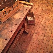 before after cartolina s end grain block flooring design sponge