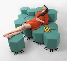 high tech modular seating system shapeshifts on command in fact playing around with the possibilities on the app might be just as entertaining as using the physical furniture and that s kind of the point