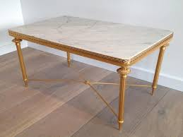 White Marble Top Coffee Table Furniture White Marble Top Coffee Table Gilded Metal