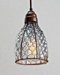 Wire Light Fixtures Glass Pendant Light With Copper Fittings Pendant Lighting