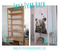 Ikea Shelf Hacks Hester U0027s House Updates Ikea Ivar Hack U2014 Hester U0027s Handmade Home