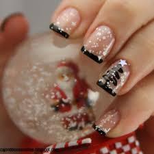 beautiful black u0026 white christmas holiday nail art with snow