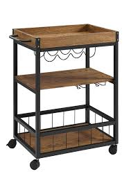 amazon com linon austin kitchen cart kitchen u0026 dining