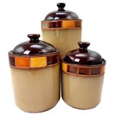 stoneware kitchen canisters gibson casa estebana 3 pc kitchen cannister canister set beige