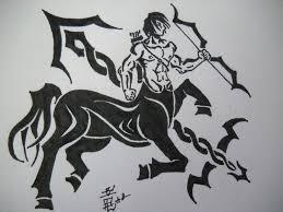 sagittarius tribal tattoo by dragongirl lucky 13 on deviantart