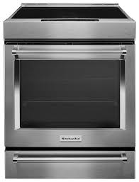 kitchenaid 7 1 cu ft self cleaning slide in electric induction