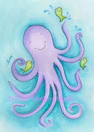 Ocean Themed Kids Room by Boy Summer Beach Wall Art Octopus Children Sea Side