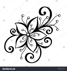 decorative flower beautiful decorative flower leaves vector patterned stock vector