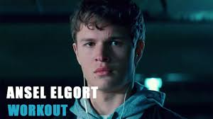 ansel elgort baby driver ansel elgort training hard workout youtube