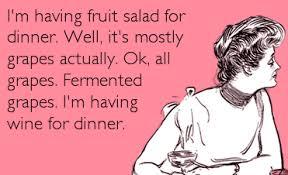 Fruit Salad For Dinner Meme - you kids drive me to drink