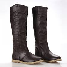 womens boots for flat nemaone size 34 43 2016 fashion boots flat boots knee
