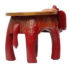 wholesale handmade 12 u201d elephant shaped wooden round red u0026 orange