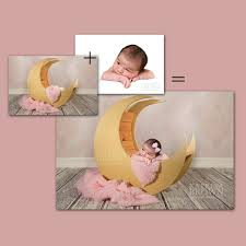 pink moon prop for infant newborn photography 2 digital files