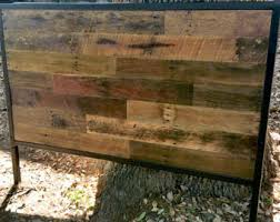 King Size Wooden Headboard Industrial Headboard Etsy