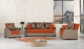 Orange Sofa Living Room by Mobimax Orange Sofa Mobimax Casamode Furniture Fabric Sofas At