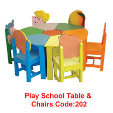play table and chairs wood play round table with chairs rs 28000 piece azad