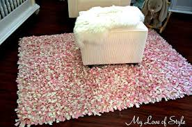 How To Make A Rag Rug From T Shirts Diy Shag Rag Rug Tutorial My Love Of Style U2013 My Love Of Style