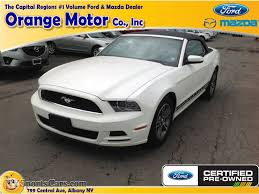 2013 Ford Mustang Black 2013 Ford Mustang V6 Premium Convertible In Performance White