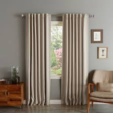 Black Out Curtain Panels Solid Insulated Thermal Blackout Curtain Panel Pair Free