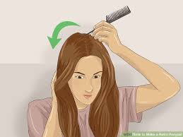 pinup clip in ponytail with bangs 3 ways to make a retro ponytail wikihow