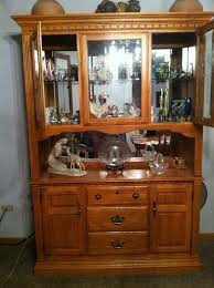 richardson brothers co oak lighted buffet and hutch reduced price
