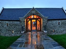 porch at night oak framed glazed porch in stone barn conversion